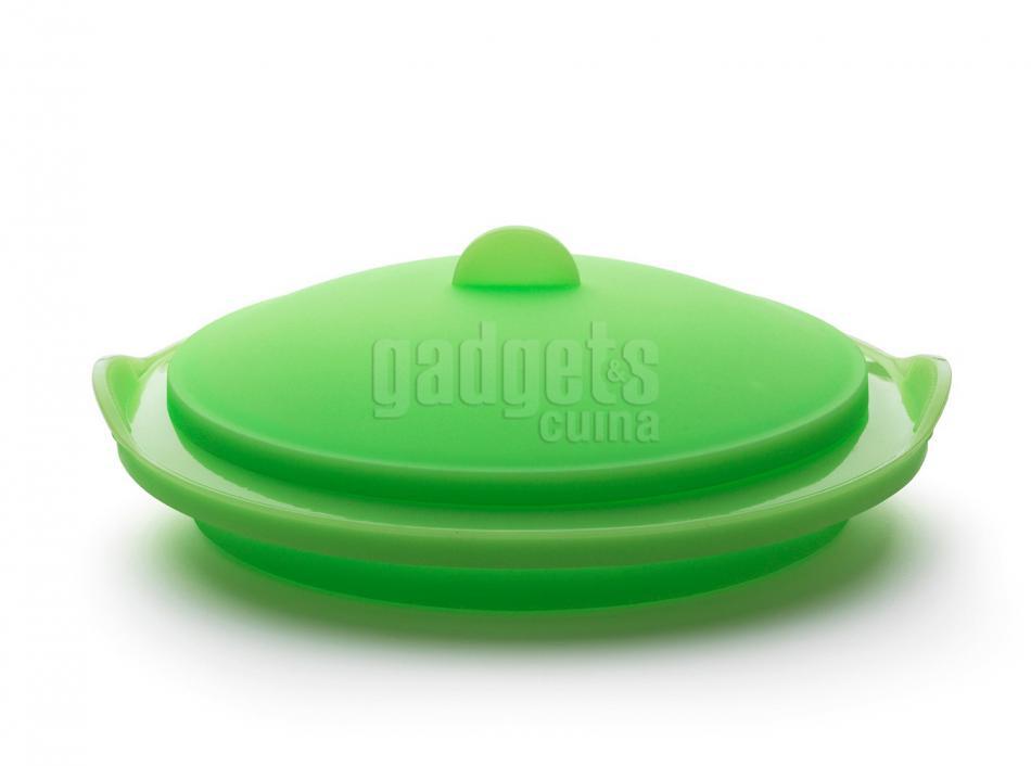 Vaporera silicona plegable translcida verde gadgets cuina - Cocinar al vapor con vaporera ...
