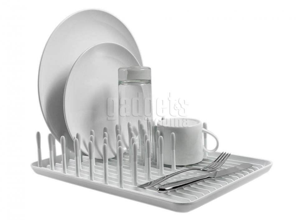 Escurridor de platos y cubiertos compacto  d8b0a84a58ed