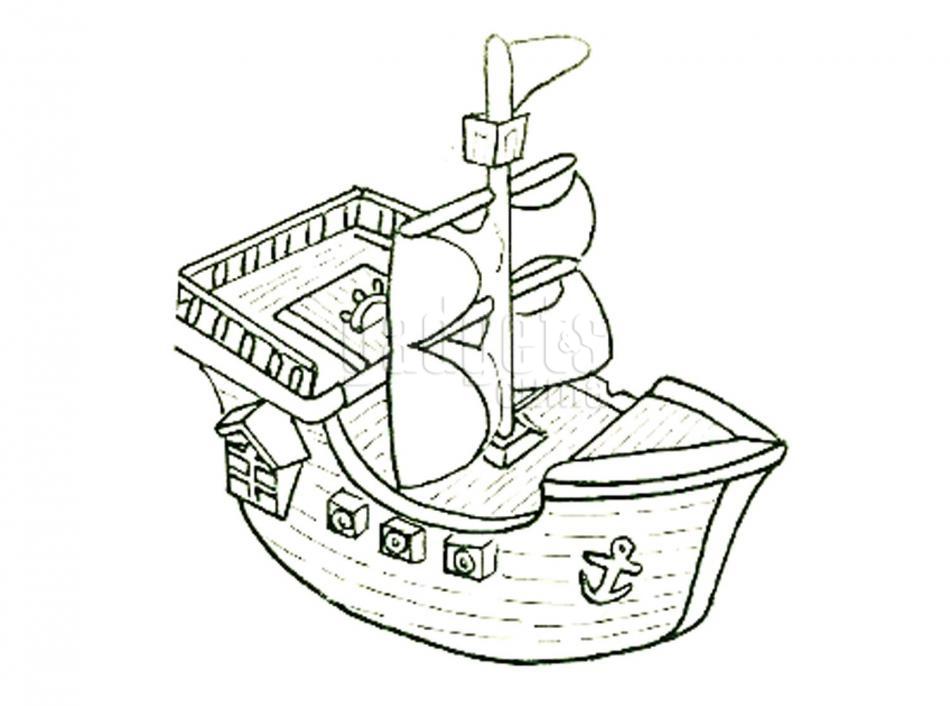 Snap Contemporáneo Hoja Para Colorear Para Barcos Ornamento Ideas ...