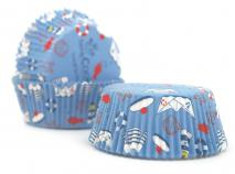 Papel cupcakes marinero x36