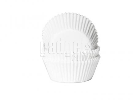 Papel mini cupcakes x50 blanco