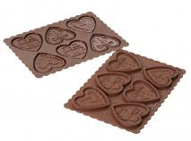 Kit galletas de chocolate Corazones