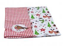 Set 2 trapos de cocina algodón Santa y Amigos 45x7