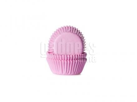 Papel  mini cupcakes Rosa x60