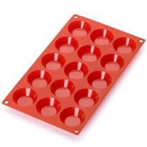 Molde tartaleta 15 cav x30 ml rojo