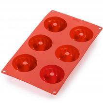 Molde mini savarin 6 cav x90 ml rojo