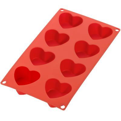 Molde corazones x8 silicona Lekue