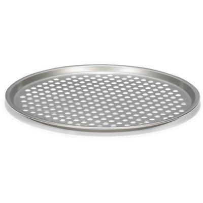 Bandeja pizza con agujeros metálica 31cm
