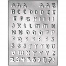 Molde Bombones y Piruletas Letras y Números