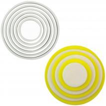 Set 6 talladors galetes Cercles plàstic PME