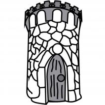 Motllo Mona Pasqua Xocolata Torre Castell x3