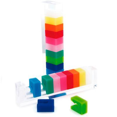 Set 10 marcadores copas cuadrados colores