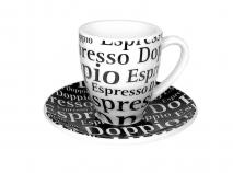 Set 4 tazas espresso doble 9 cl lletres