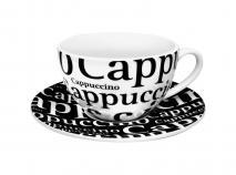Set 4 tazas caf� capuccino 25 cl letras