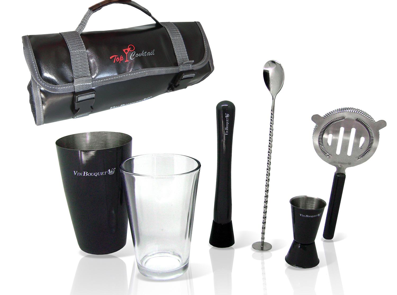 Set de cocteleria pro con estuche enrollable gadgets cuina for Utensilios para bar