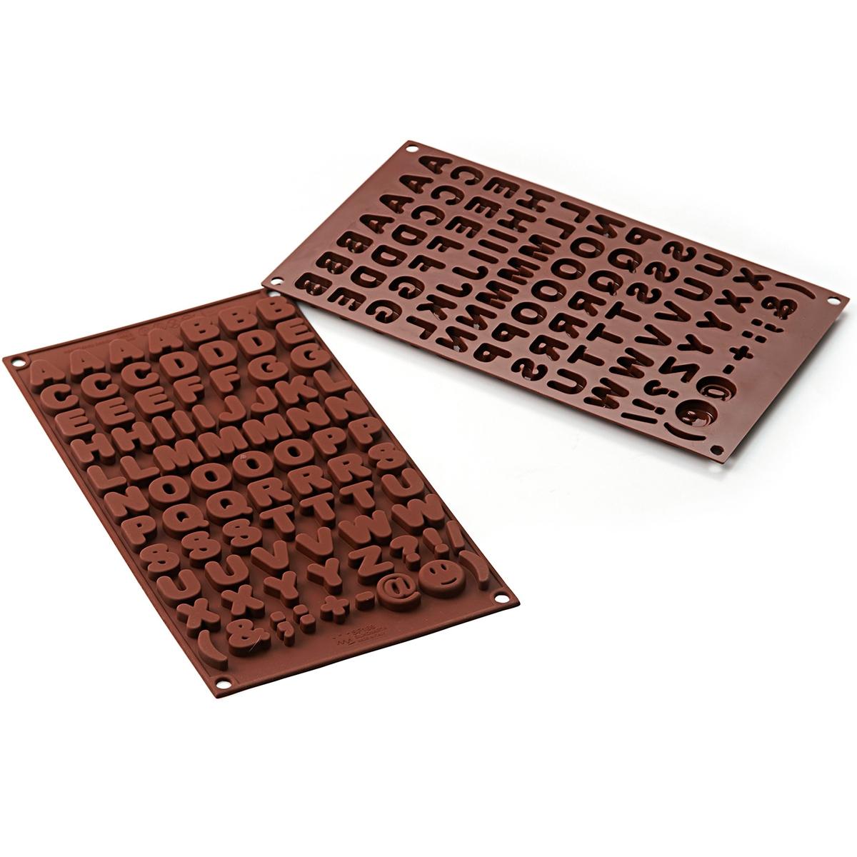 Molde bombones silicona abc letras y smbolos gadgets cuina Letras de hierro