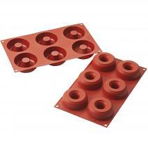 Molde silicona Donut 6 cav