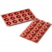 Motllo silicona Mini Donuts 15 cav.