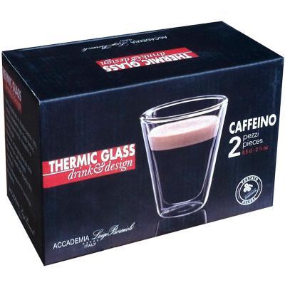 Set 2 tazas espresso térmicas Caffeino 8 cl