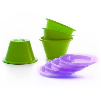 Set de 4 Flaneras silicona con tapa