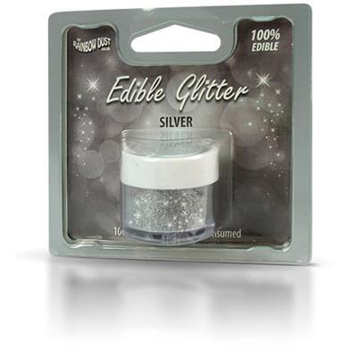 Polvo brillante comestible 5 g Glitter Plata
