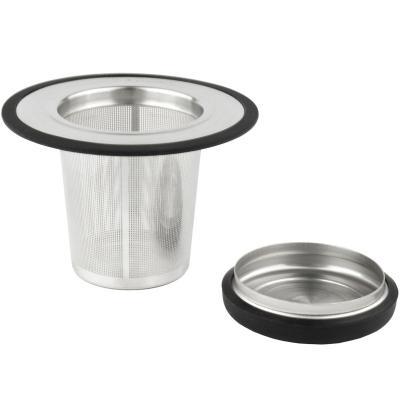 Filtro té inox. con tapa i suport