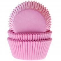 Papel cupcakes rosa claro x50