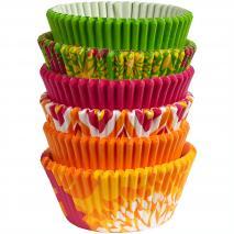 Papel cupcakes x150 Flores Neón