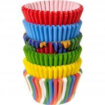 Papel mini cupcakes x 150 Colores primarios