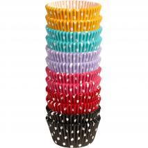Papel cupcakes x300 Topos colores