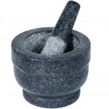 Morter de granit amb mà
