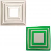Set 6 talladors galetes Quadrats plàstic PME