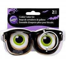 Cortador galletas Gafas y ojos (x2)