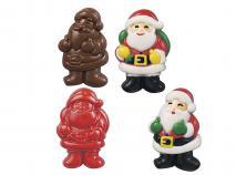 Molde piruleta y bombones 3d Papa Noel