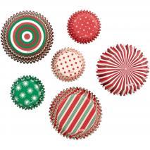 Papel cupcakes y mini cupcakes x 150 Navidad