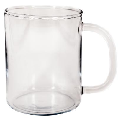 Taza mug recta cristal borosilicato
