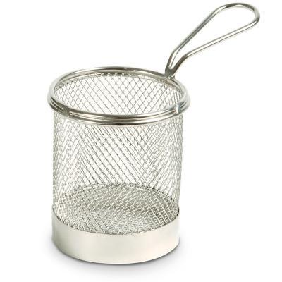 Cestillo rejilla aperitivos redondo 9 cm