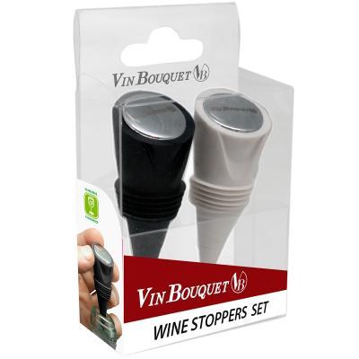 Set 2 tapones silicona para vino