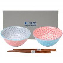 Set japonès Wave 2 bols tayo i bastonets