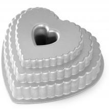 Molde pastel Nordic Ware Corazón Escalado Bundt