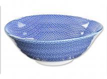 Bol soba japonès Nippon Blue quadres 21 cm