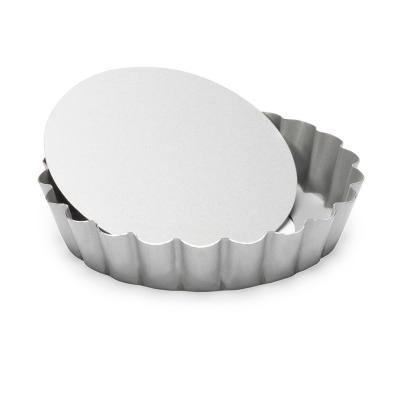 Molde mini redondo rizado base móvil 10 cm