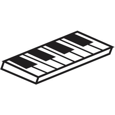 Molde turrón piano