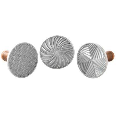 Set 3 sellos galletas Geometric Nordic Ware