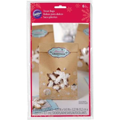 Bolsas galletas y dulces x6 Copos de nieve