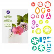 Juego 28 cortadores flores gum paste y fondant