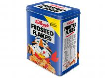 Caja metálica cereales Kellogg's Tiger azul L