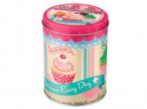 Caja met�lica cupcakes Fairy cakes redonda