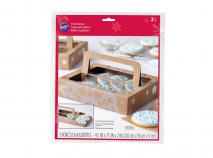 Set 3 caixes regal amb finestra Flocs de Neu