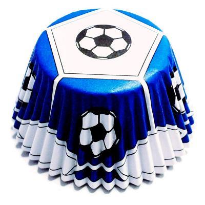 Papel cupcakes antigrasa x30 Fútbol azul